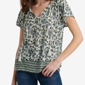Lucky Brand Smocked Top